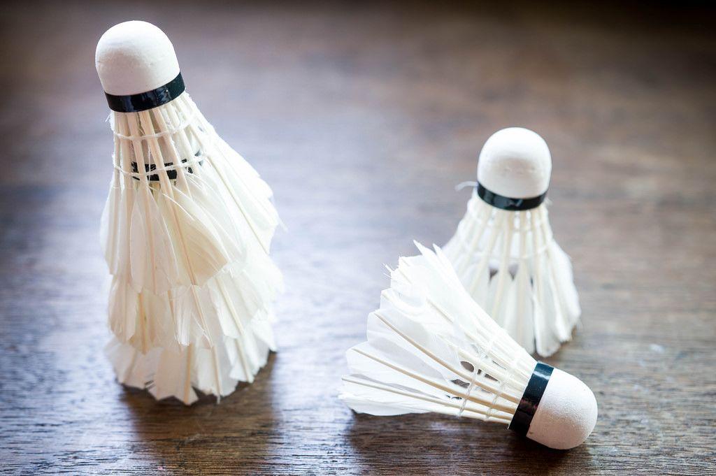 Federbälle für Badminton