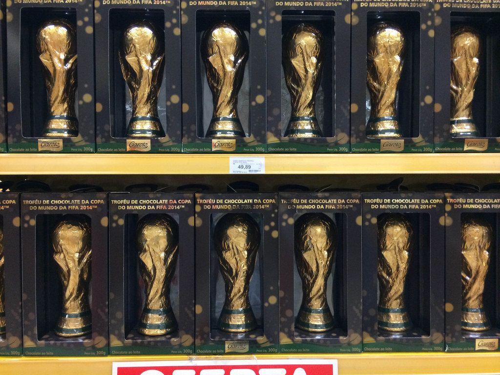 FIFA-WM-Pokale aus Schokolade als Andenken, Brasilien