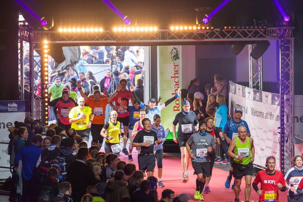Finish line in sight - Frankfurt Marathon 2017