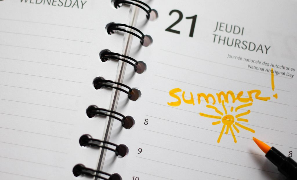 First Day of Summer Calendar