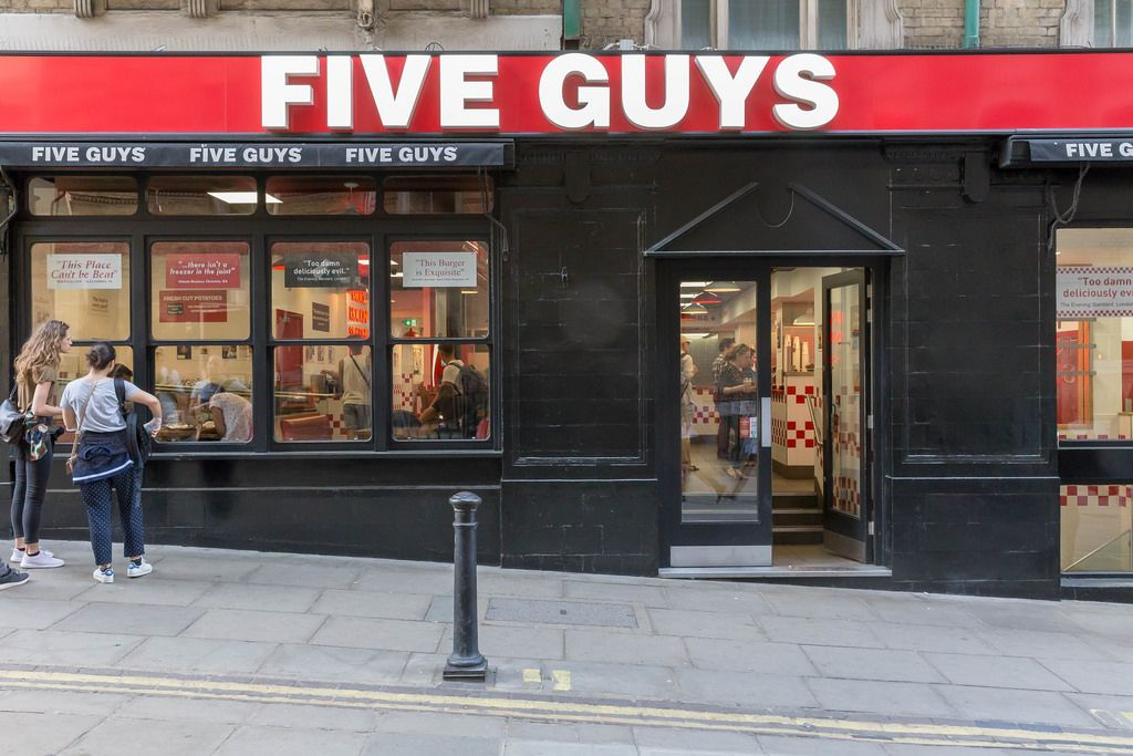 Five Guys Hamburger-Imbissbude in London