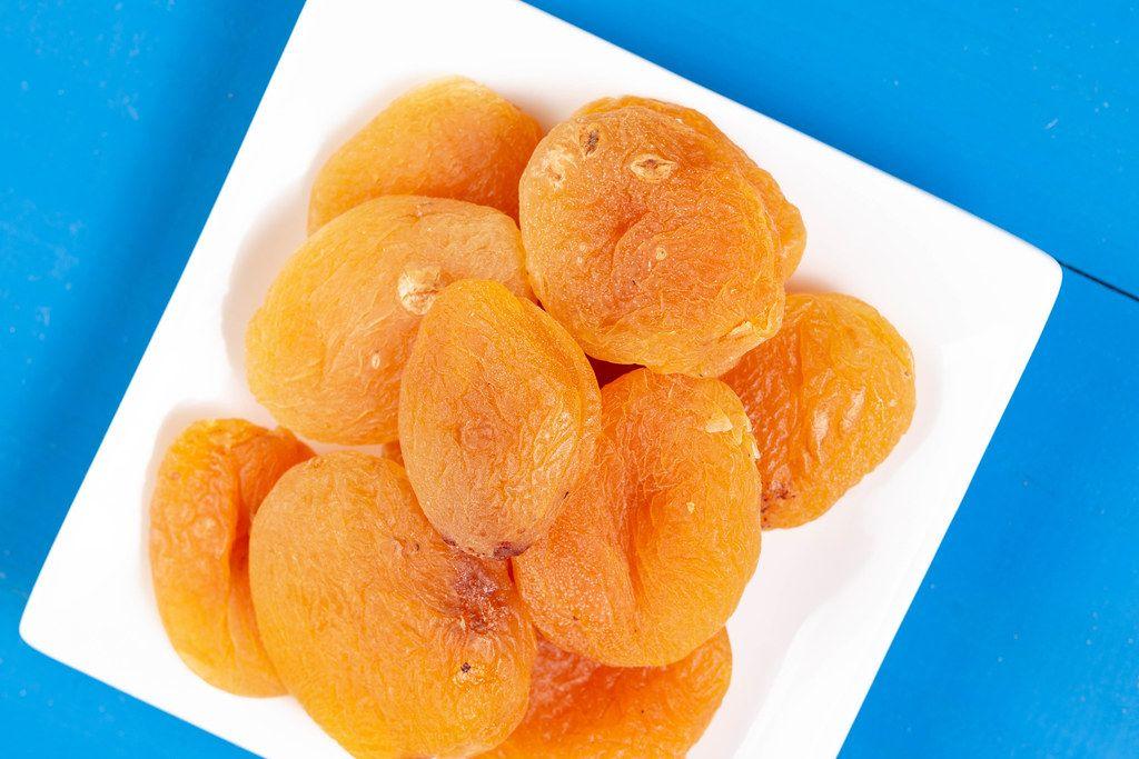 Flat lay above Dried Peaches (Flip 2019)