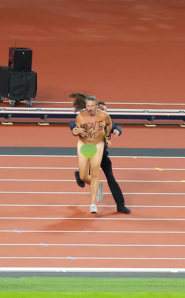 Flitzer während der Leichtathletik-WM in London
