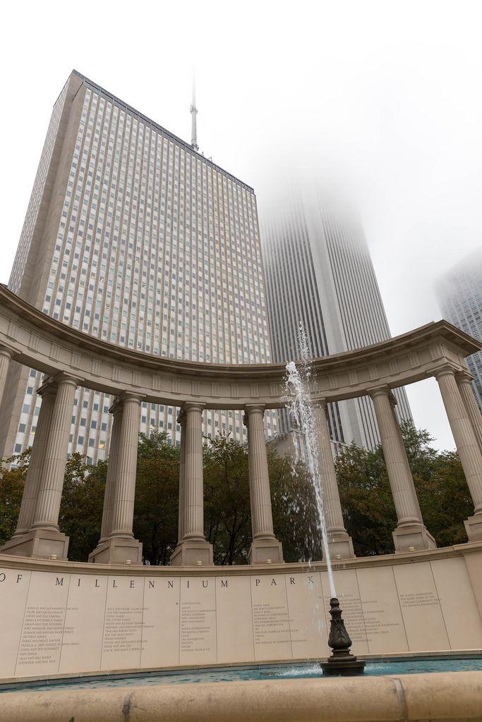 Fontäne im Millennium Monument im Wrigley Square, Chicago