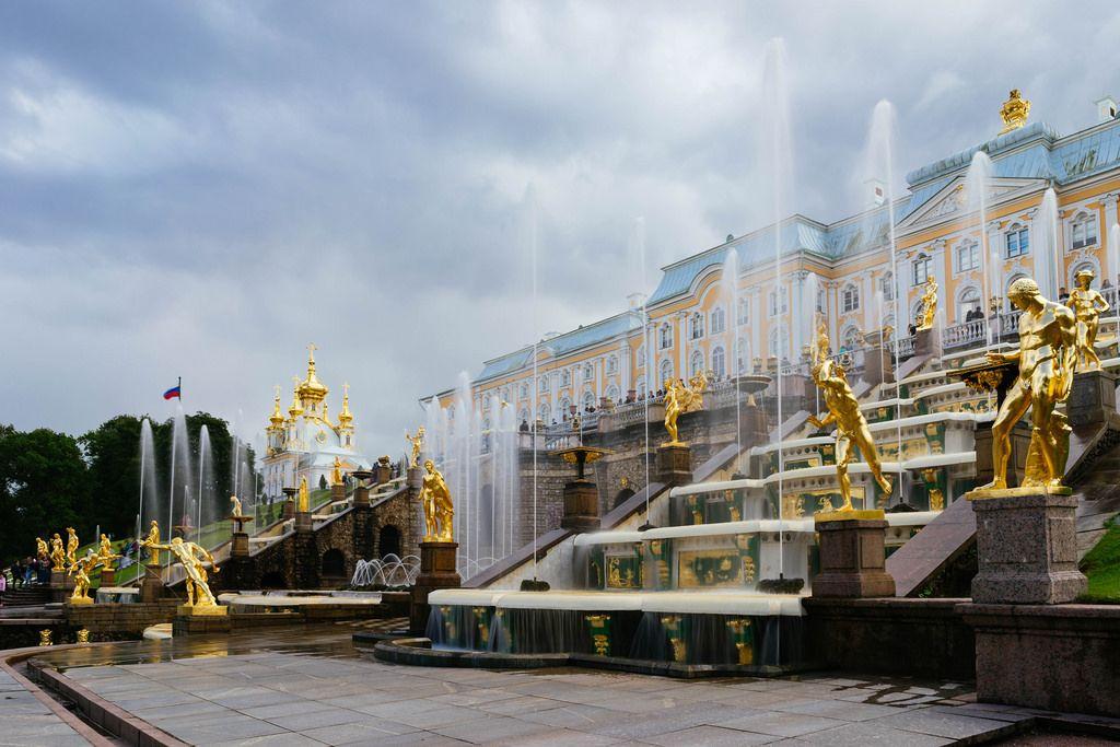 Former Tsar Peter palace in Petergof, Russia / Ehemaliger Zar Peter Palast in Peterhof, Russland
