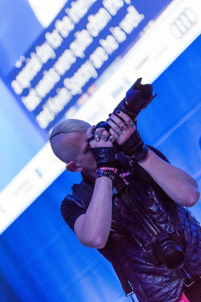 Fotograf auf der #bits17