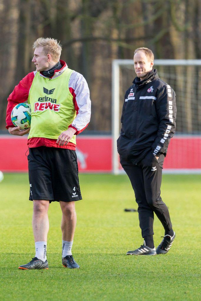 Frederik Sørensen und Kevin McKenna beim Training am 30.01.2018