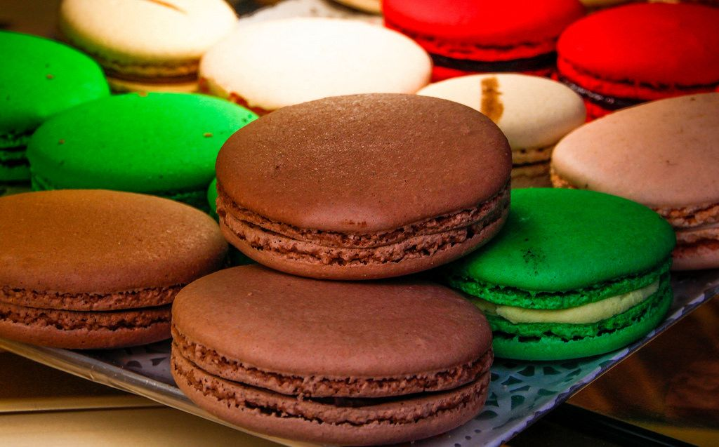 French Macarons Close-Up