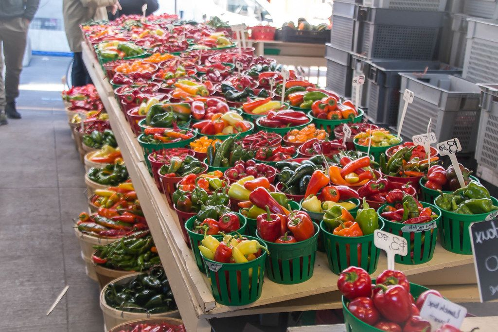 Fresh Colorful Vegetable Stall at the Market  (Flip 2019)