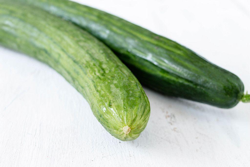 fresh cucumbers  / Gurken