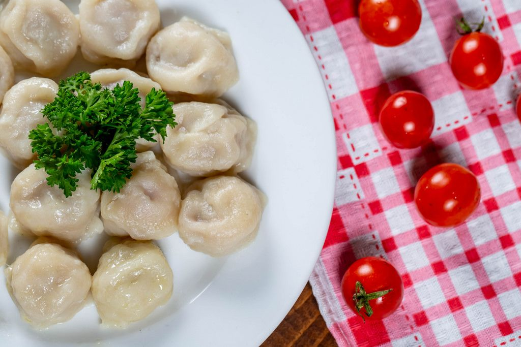 Fresh homemade dumplings