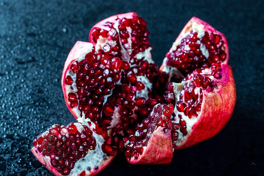 Fresh juicy ripe pomegranate