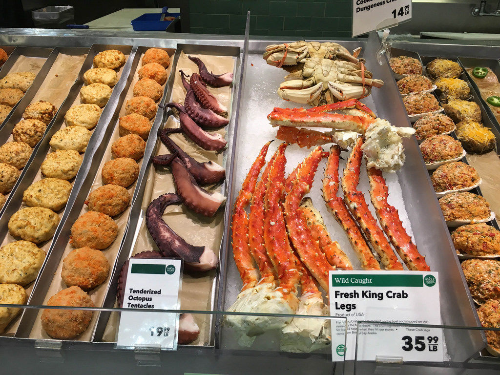 Fresh King Crab Legs and Octopus Tentacles