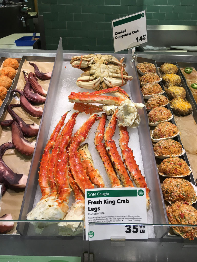 Fresh King Crab Legs at Whole Foods Market New York