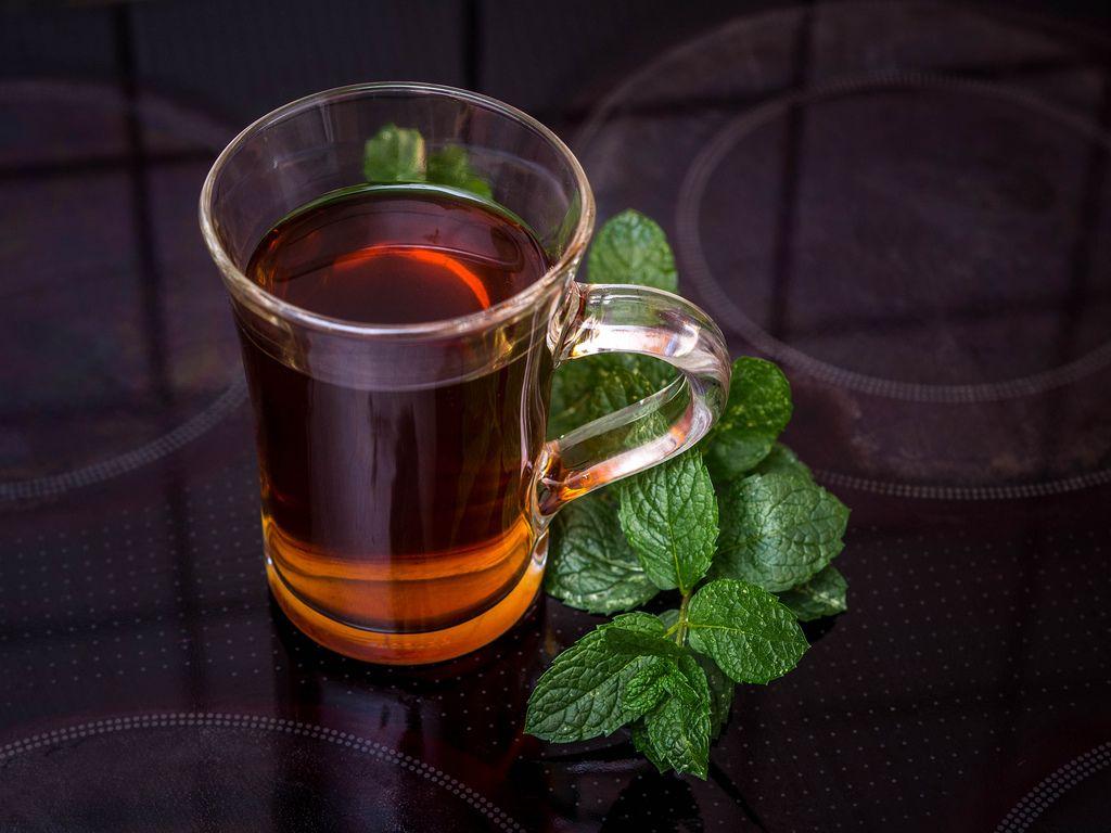 Fresh mint tea on the hotplate (Flip 2019) (Flip 2019) Flip 2019