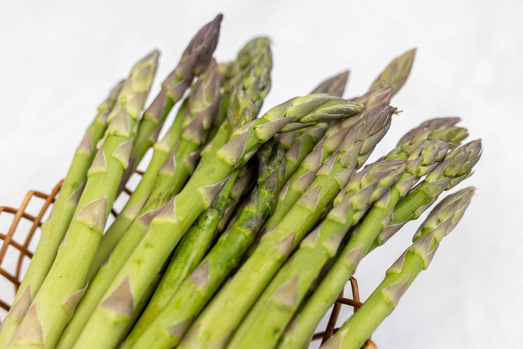 Fresh Raw Asparagus closeup image