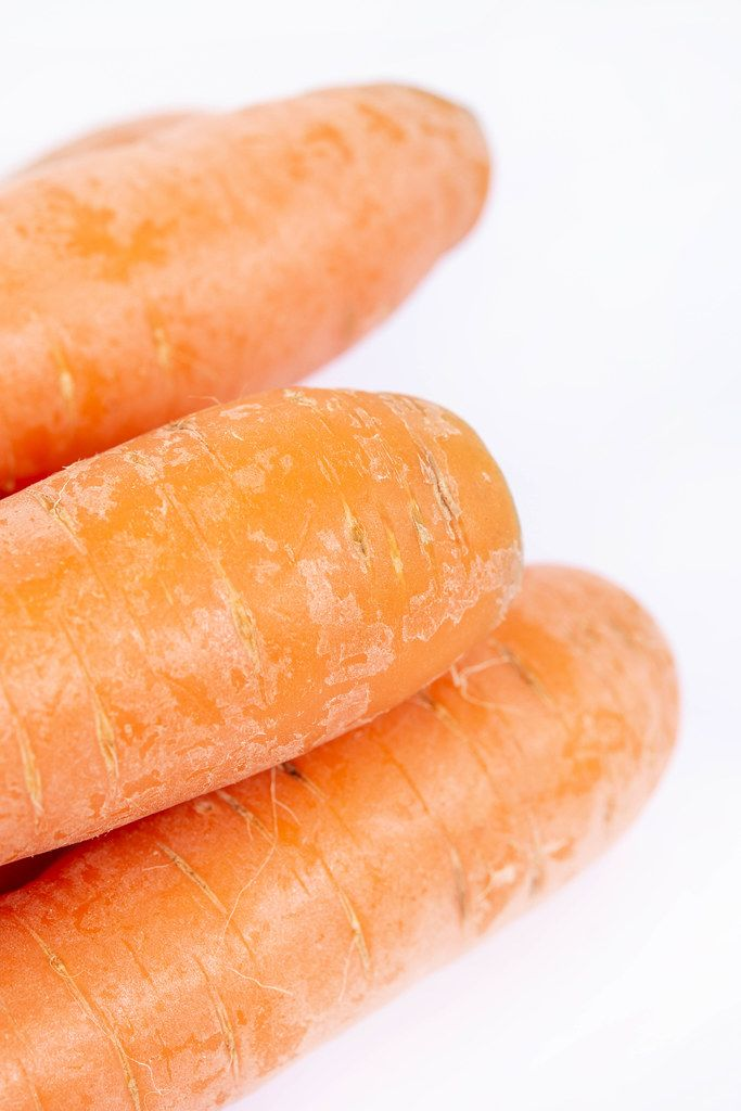 Fresh Raw Carrots with copy space