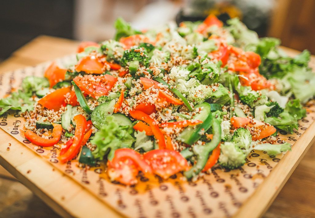 Fresh Salad With Veggies Close Up