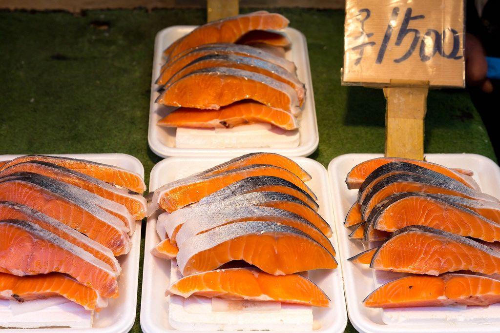 Fresh Salmon in Tokyo