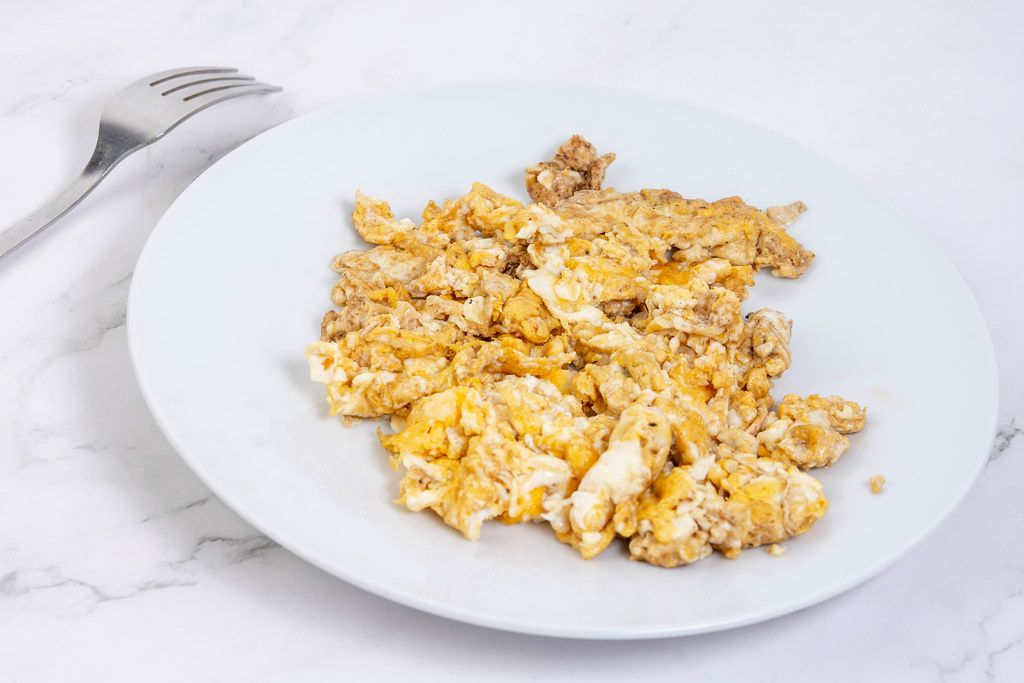 Fried Eggs served on the plate