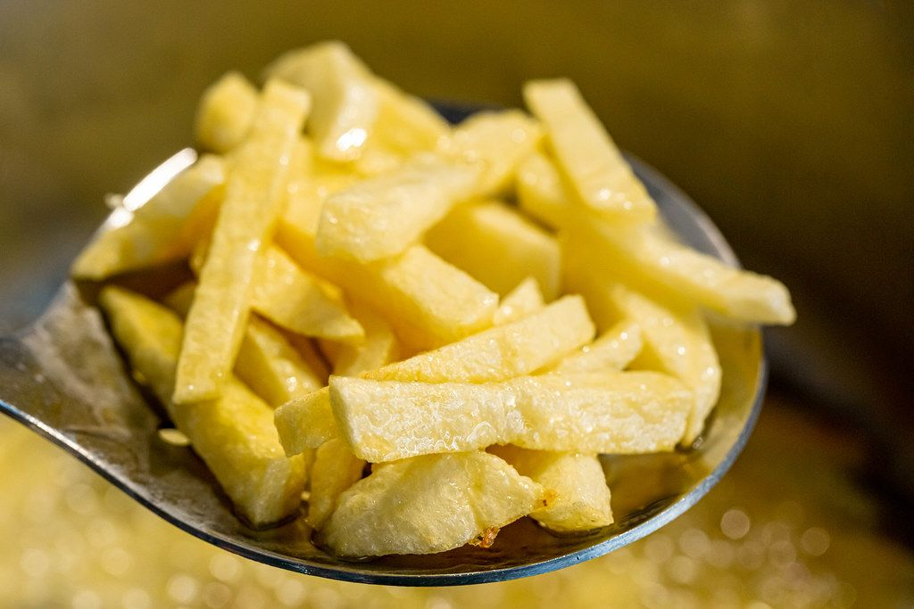 Fried potato. The concept of unhealthy food