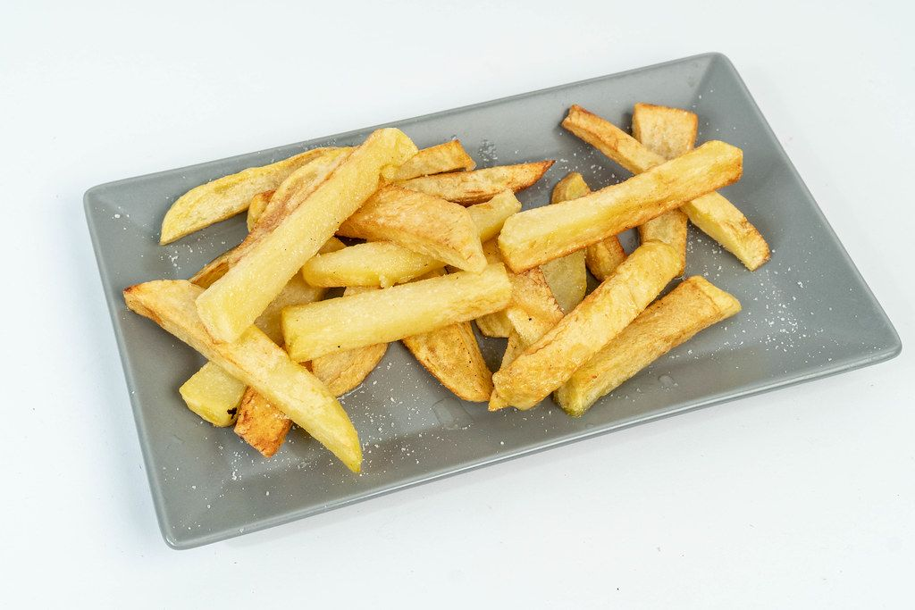 Fried Potatoes on the plate
