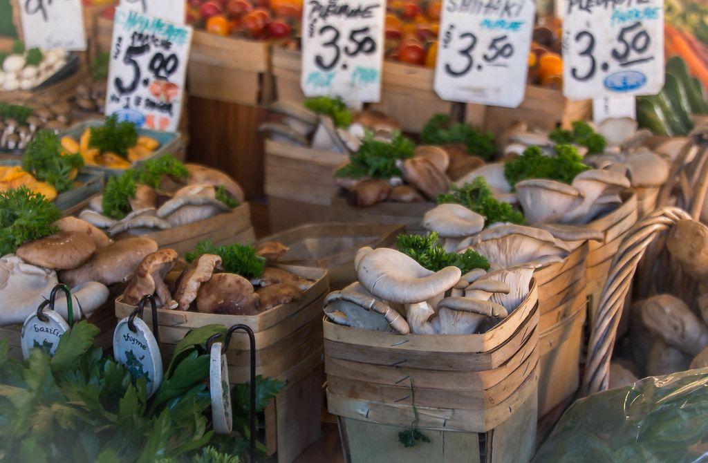 Frische Pilze auf dem Markt