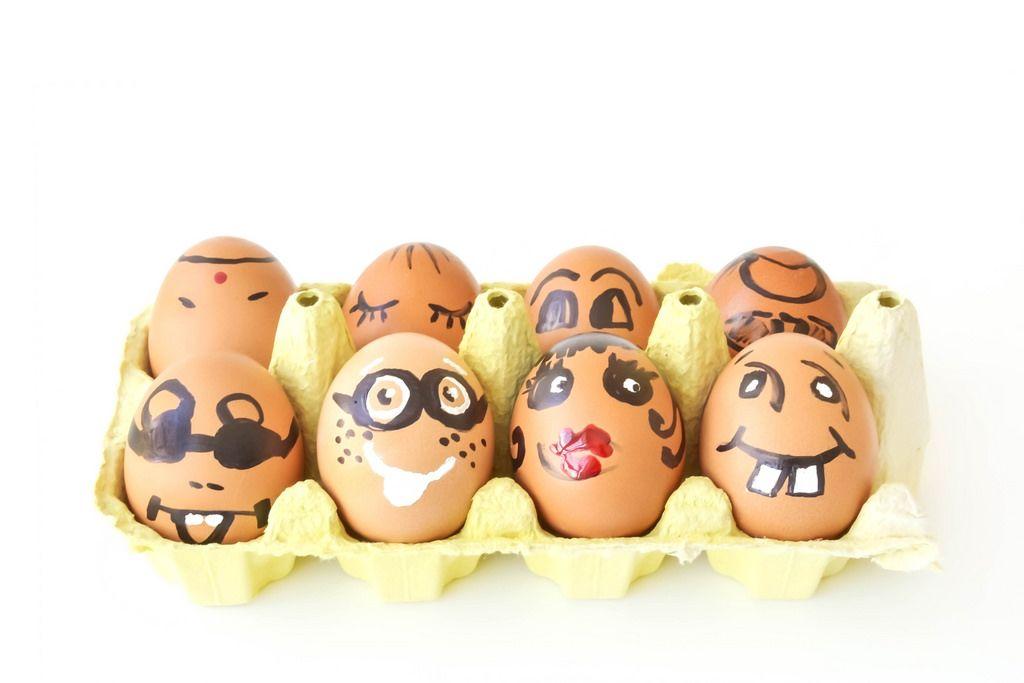 Frohe Ostern: Bemalte Ostereier