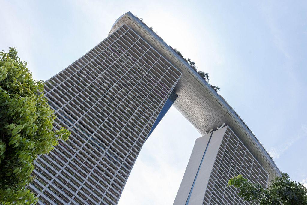 Froschperspektive: Marina Bay Sands