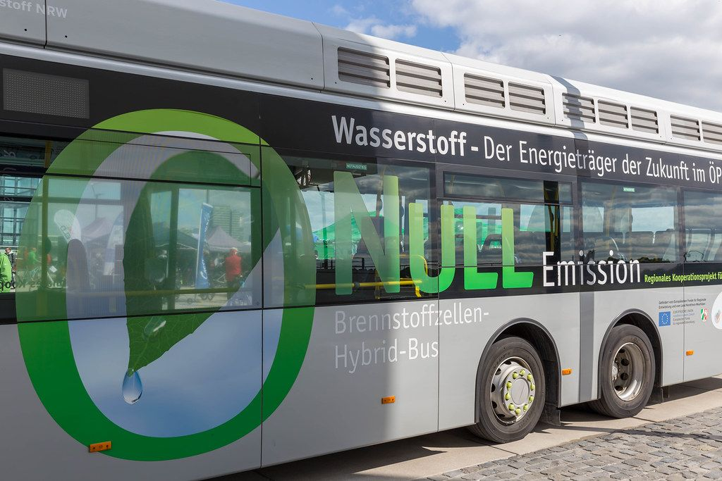 Fuel-cell hybrid city bus in Cologne, to achieve eco friendly emission goals