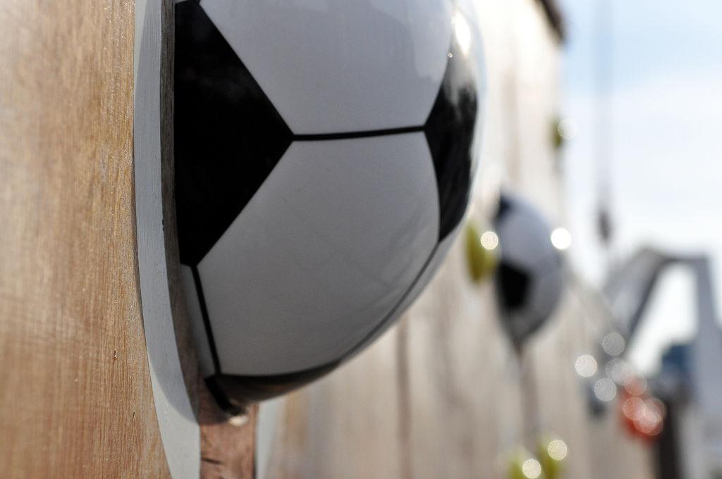 Fußballwand beim Wembley-Stadion