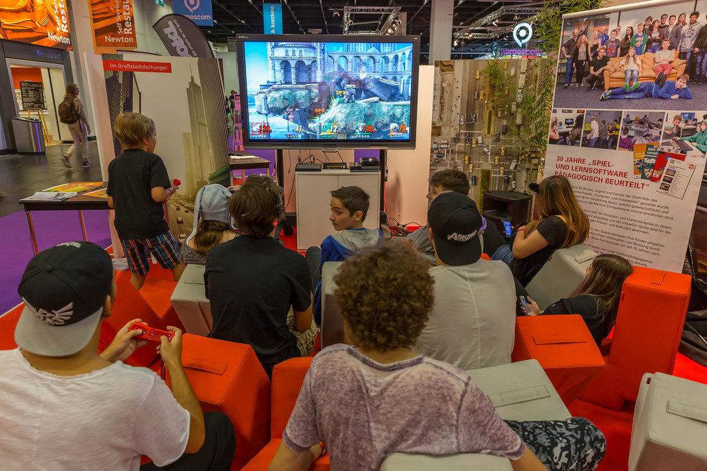 Gamer auf der Gamescom