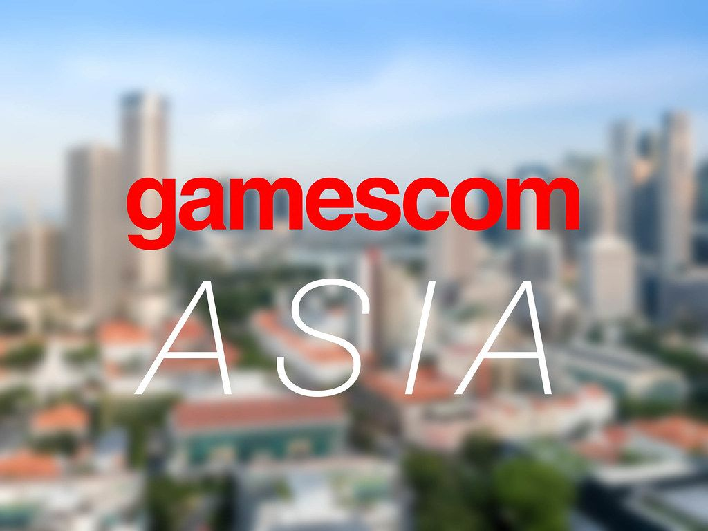 Gamescom asia in in Singapur (Singapore) Skyline of Singapore