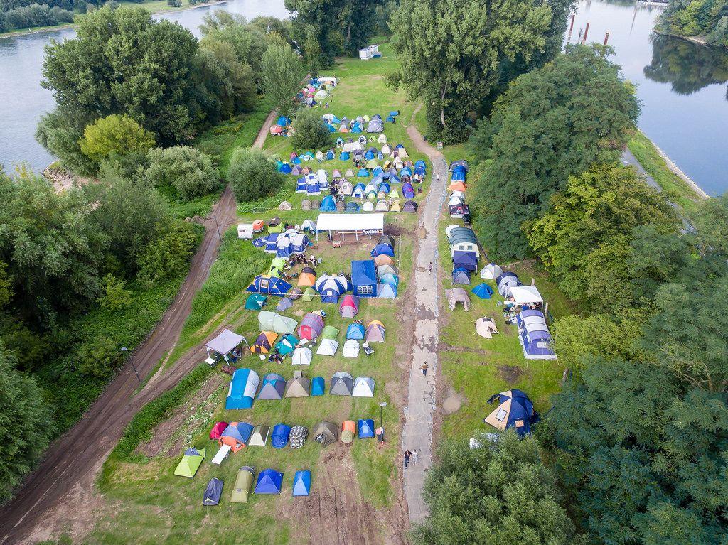 Gamescomcamp im Kölner Jugendpark während der Gamescom 2017