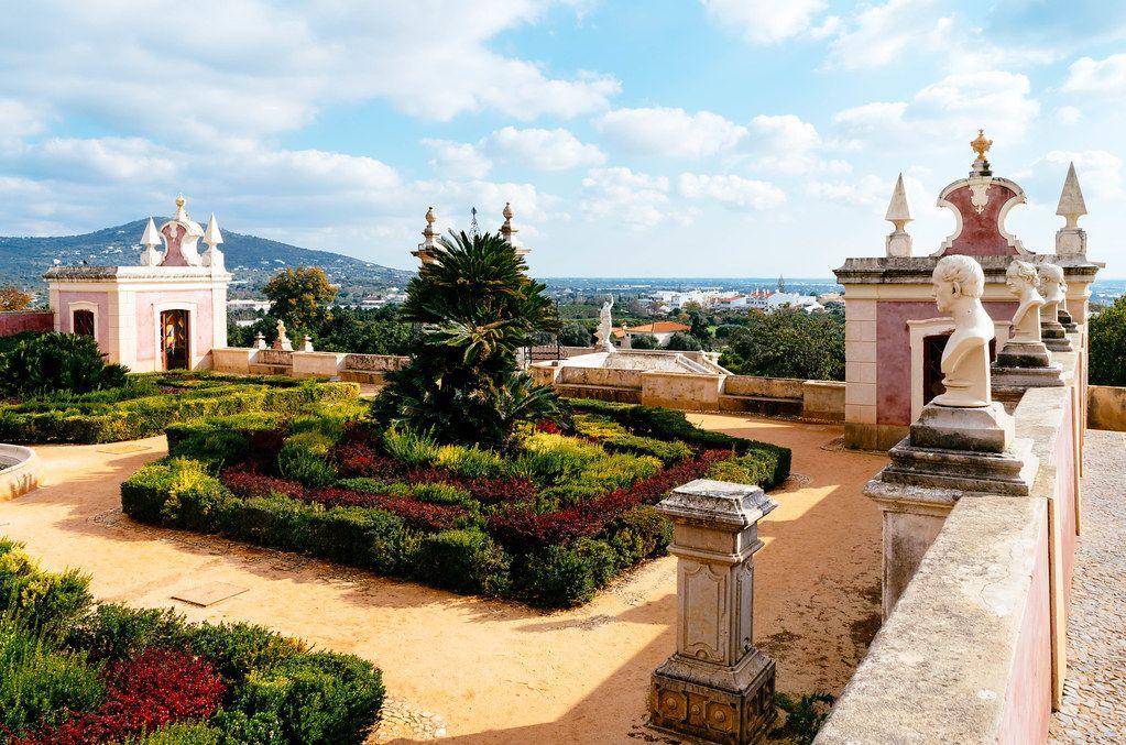 Garden view in luxury hotel Pousada Palácio Estói (Flip 2019)