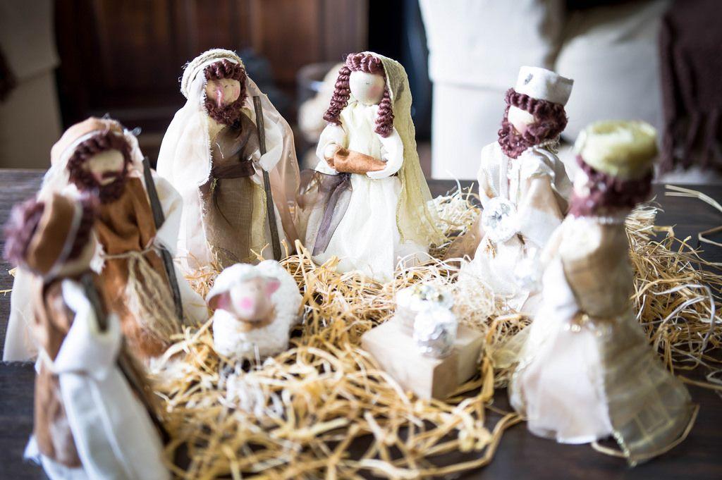 Geburt Christi, ein handgefertigtes Puppen-Set