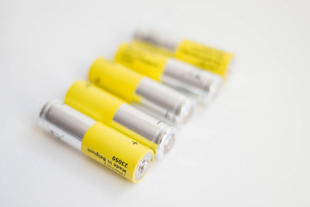 Gelbe Mignon AA Batterien
