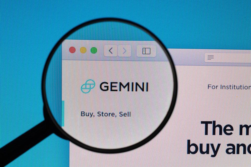Gemini logo under magnifying glass