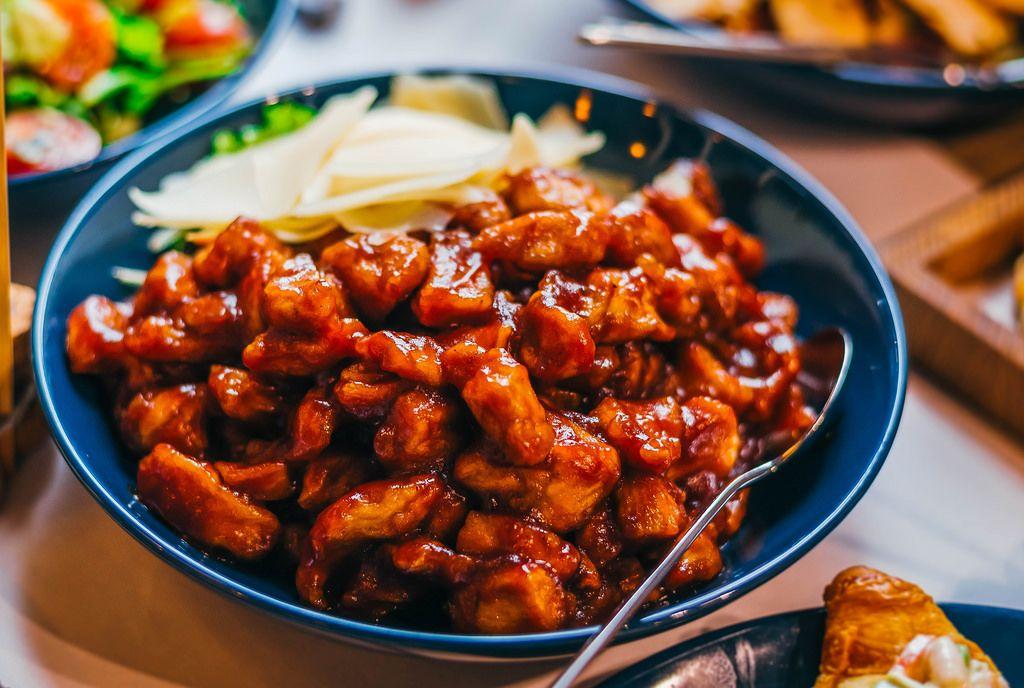 Gemischter asiatischer Rind-Salat
