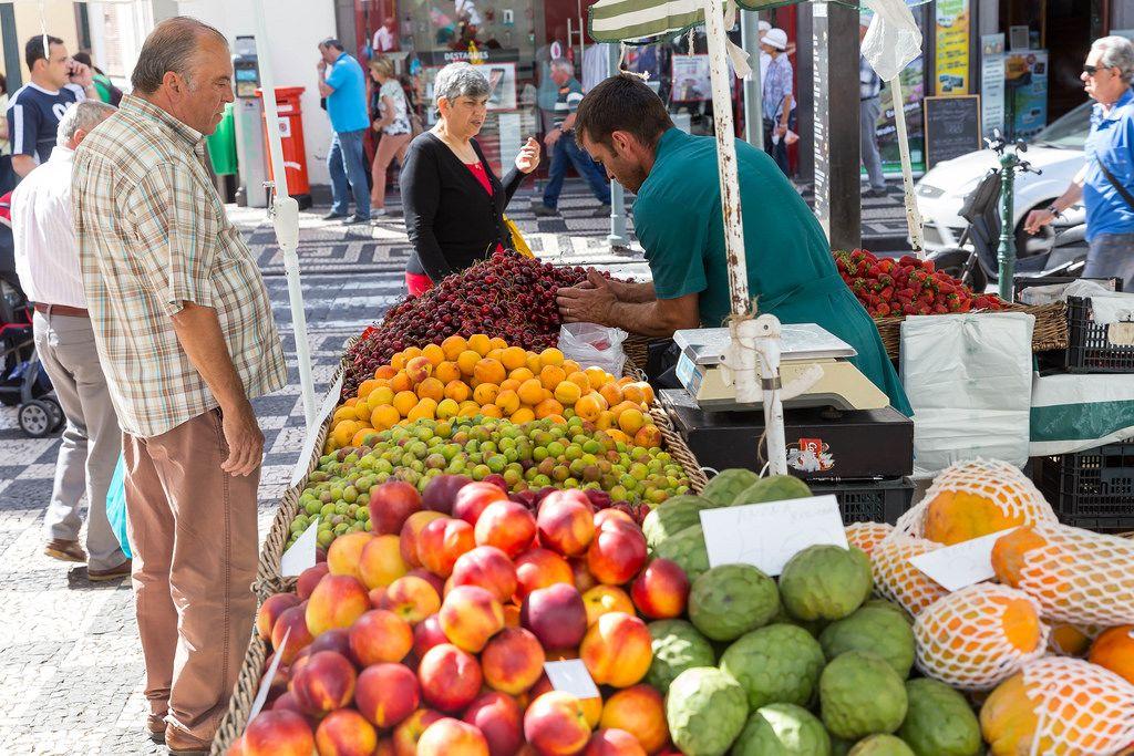 Gemüsehändler in Funchal