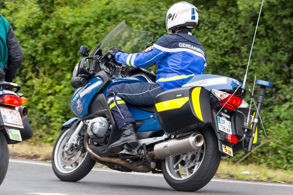 Gendarmerie-Mottorrad