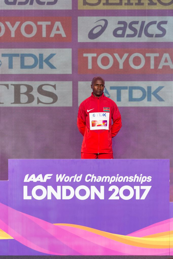 Geoffrey Kipkorir Kirui Goldmedaille (Marathon Finale) bei den IAAF Leichtathletik-Weltmeisterschaften 2017 in London