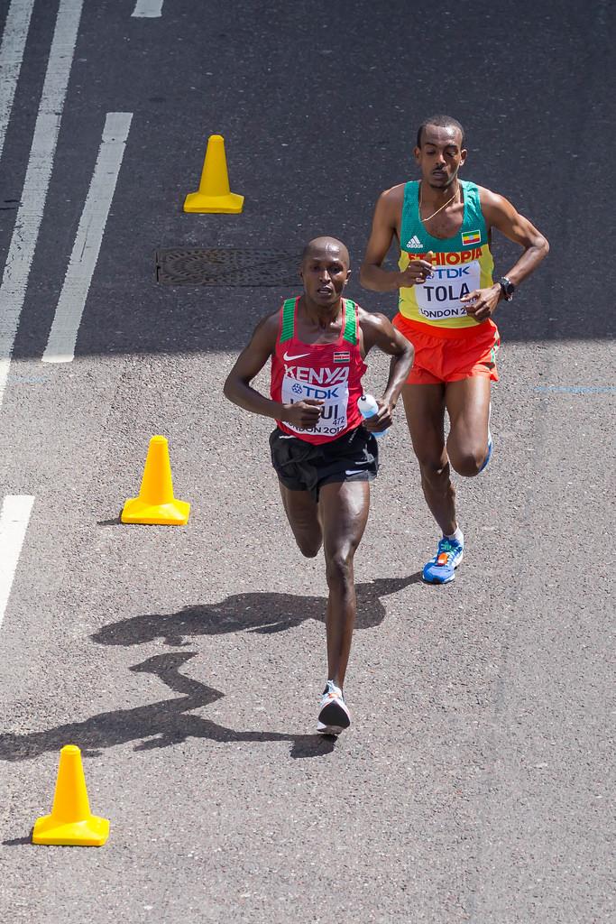 Geoffrey Kipkorir KIRUI und Tamirat TOLA beim Marathon