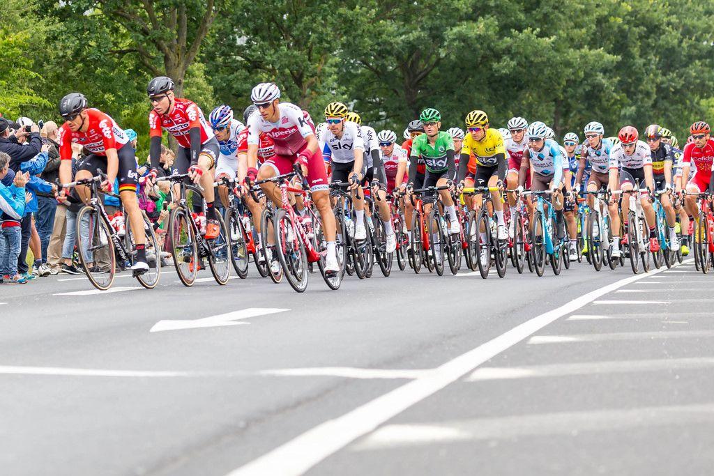 Geraint Thomas im Peloton der Tour de France 2017