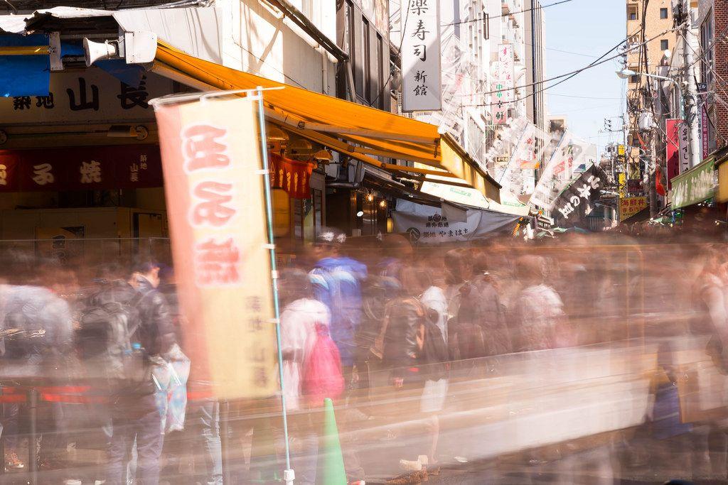 Geschäftiges Markttreiben - Tokyo, Japan