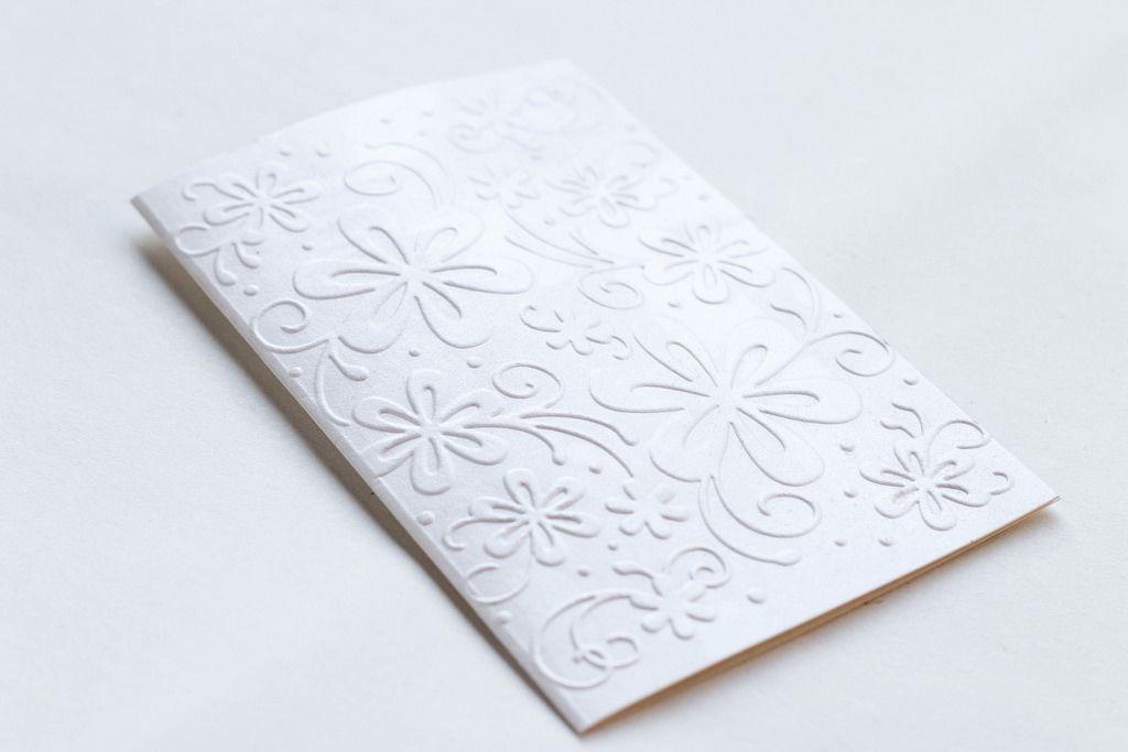 Geschenkkarte mit Blumen-Motiv