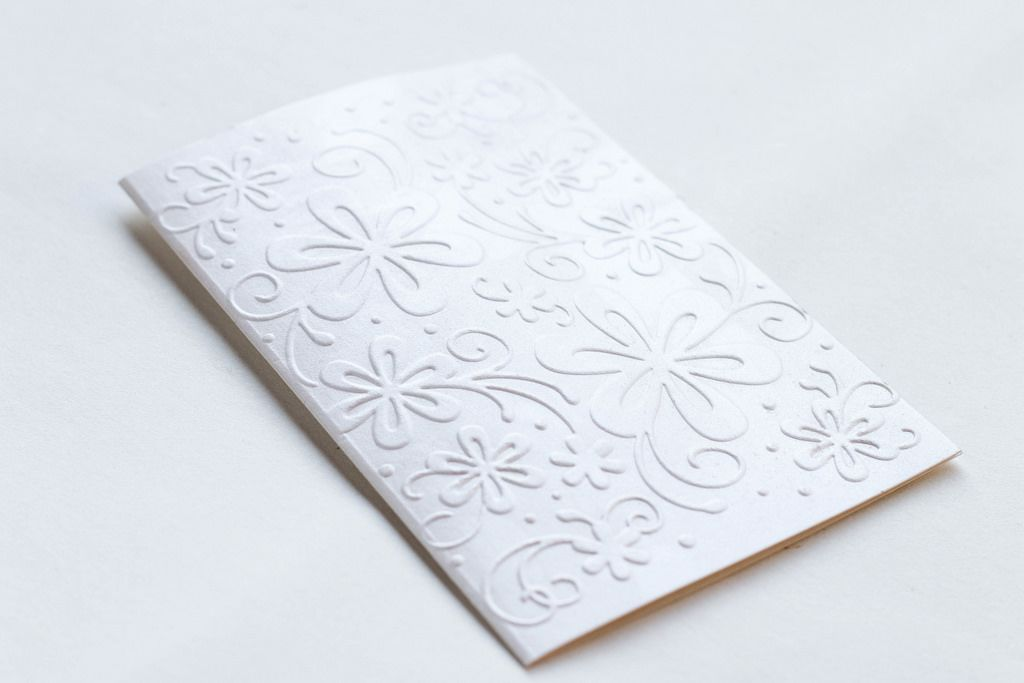 Gift Card With Printed Flowers