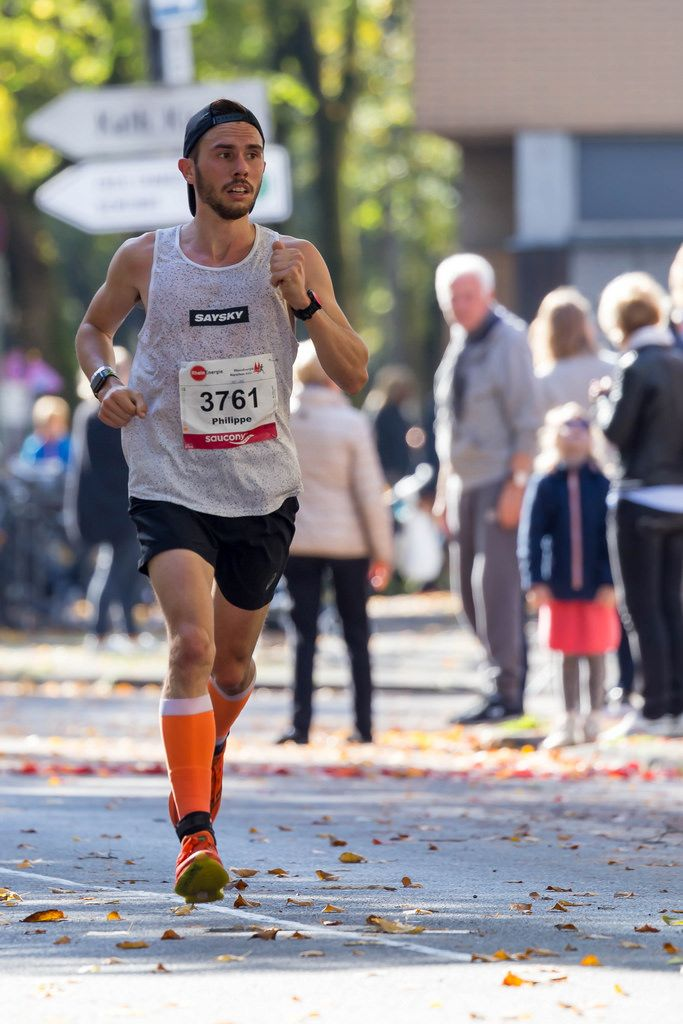 Gillen Philippe giving it his all - Cologne Marathon 2017