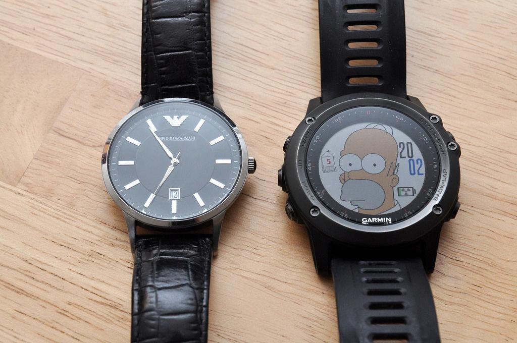 Giorgio Armani Uhr und Garmin Fenix3
