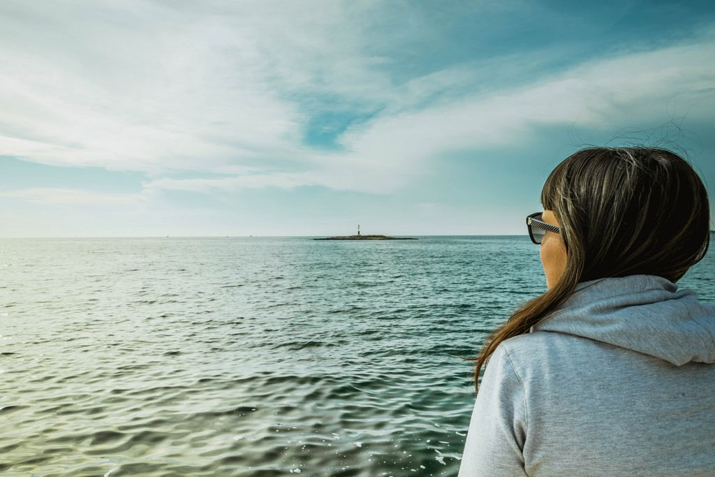 Girl watching sea